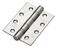10 pairs (20 hinges) 102X76X3 MM PAIR OF BALL BEARING STEEL HINGES